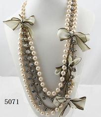 China Beautiful beaded long pearl costume jewelry necklaces  with fashion design for gift on sale