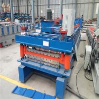 Electric Cutting Large Span R Roofing Sheet Roll Forming Machine 17 Stations 17.7KW