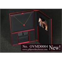 Red cardboard Jewellery Display Boxes, jewelry display stands and wedding jewelry set gift box