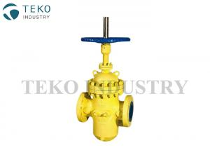 China Casting Steel 6 Inch Flat Gate Valve Reliable Zero Leakage Without Throught Conduit on sale