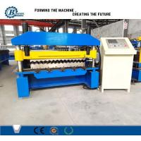 18-76-836 Galvanized Metal Roofing Panel Machine / Steel Corrugated Sheet Roll Forming Machine