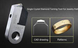 China Monocrystalline synthetic diamond Single crystal MCD jewellery cnc diamond jewelry tools on sale