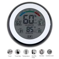 SN226 LCD Digital Multifunctional Touch Thermometer Support Humidity Measurement with Magnets Hanging Hole and Bracket