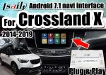 Android 7.1 Car Video Interface for 2014-2018 Opel Crossland X Insignia support mirrorlink smartphone , double windows