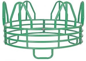 China Horse Round MINIATURE 4-RING HORSE ROUND BALE FEEDER on sale