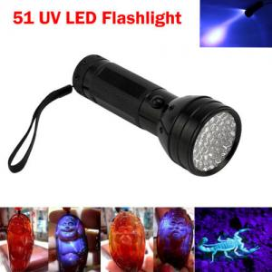 China AA Battery 51 LED Blacklight Ultro Violet UV Flashlight/Torch for Security/Scorpion on sale