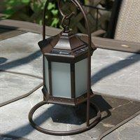 Outdoor solar table lamp with ray sensor