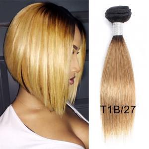 China 100% Virgin Peruvian Human Hair Weave 1B / 27 Straight Hair Extensions on sale