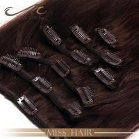 China Double drawn thick end Indian/Brazilian remy hair clip in hair extension on sale