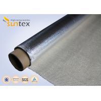 150C Aluminum Foil Aluminized Fiberglass Cloth Fireproof Material For Smoke Curtain