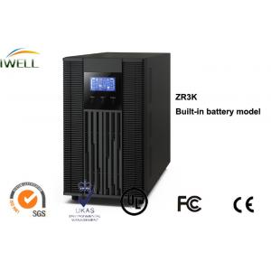 China SNMP Card Slot Online UPS System Factor 3Kva With 6Pcs 12V 9Ah Batteries Emergency Lights Use on sale