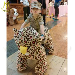 China Hansel low price coin operated walking robot ride plush moving pony rides for kids on sale