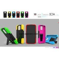 Top quality PC+silicone T kickstand mobile phone case, protect your phone very well