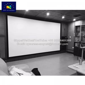 China velvet bordure fixed frame projection screen with acoustic Pro fabrics on sale