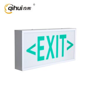China 2017 Qihui new product running man fire metal material emergency exit signn with test button CE on sale