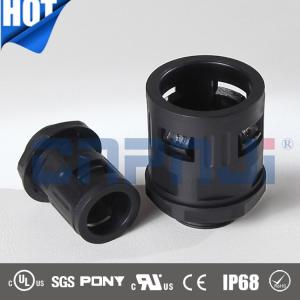 China CNPJ IP68 nylon PA66  M10 M12 M16 quick connector for flexible corrugated pipe AD10 on sale