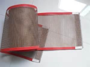 China PTFE coated fiberglass mesh fabric/cloth ptfe conveyor beelt - used for cooking food on sale