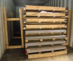 China stainless steel sheet container loading on sale