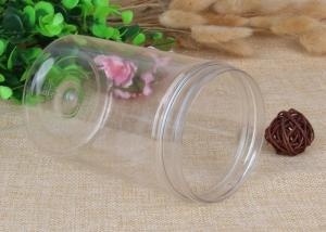 China Powder Clear Plastic Jars Top Screw Lid Small PET Jars 600ml Airtight on sale