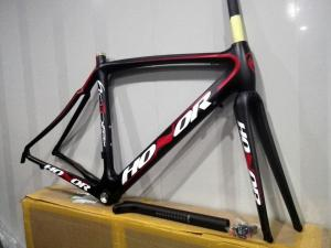 Quality 700C Full Carbon Road Bike Frame Stiffness 45cm 50cm 52cm 54cm 56cm 58cm HT-R001 for sale