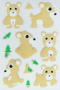 China removable PVC Foam Cute Puffy Animal Stickers for scrapbooking Safe on sale