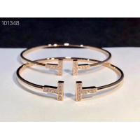 Double T Wire Bracelet 18K Gold Tiffany Jewelry Rose Gold With Real Diamonds