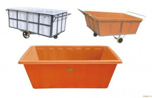 China Offer K-300L PE tank with dolly cat/ Plastic rectangular container with trolley on sale