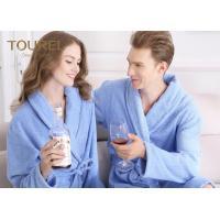Custom Polyester Blend Hotel Quality Bathrobes For Women / Long Elegant Robe