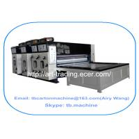chain feeder 2 color corrugated paperboard carton printing slotting die cutting machine new design