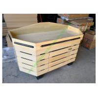 China Non toxic Retail Store Wooden Display Rack , Vegetable Storage Rack on sale