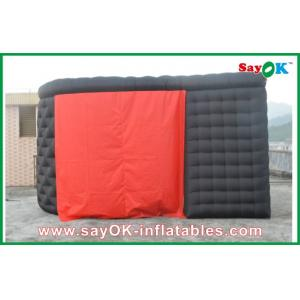 China Black Ourdoor Inflatable Air Tent 210D Oxford Cloth With Two Doors on sale