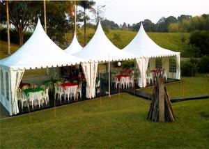 China 6m * 6m White Garden Pagoda Tents With Economical Wooden Flooring on sale