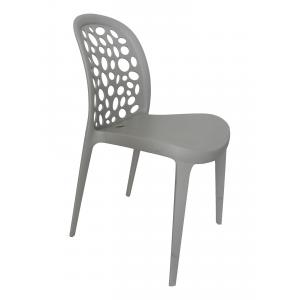 Quality Gray Italian Modern Plastic Chairs , Lightweight Polypropylene  Chairs For Sale ...