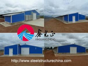 China Steel structure poultry farming shed, poultry farm house design construction on sale