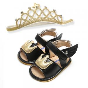 China Prince and princess angel wings Crown shoes Wedding gift girl toddler sandals on sale