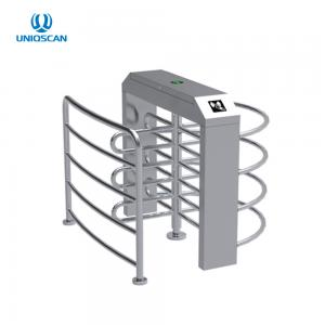 China Half Height Security Turnstile Gate Single Lane RFID Card Reader 35 Persons / Min on sale