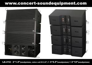 China Dual 12 Inch 1560W Line Array Speaker With Neodymium Drivers For Concert , Living Event on sale