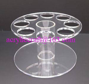 China HIGH QUALITY ACRYLIC ROUND ICE CREAM CONE HOLDER DISPLAY STAND CARRIER on sale