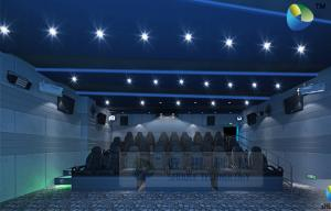 Quality HD 5D Movie Theater With Motion Chairs For Snow Bubble Lighting Fog Effects