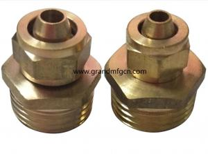 China OIL COOLER BRASS PIPE FITTING CONNECTORS in common use standardized fittings no finishing on sale