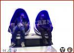 Dynamic Interactive Egg 9D VR Cinema Theme Park 2 Seat 9D Cinema Simulator Equipment