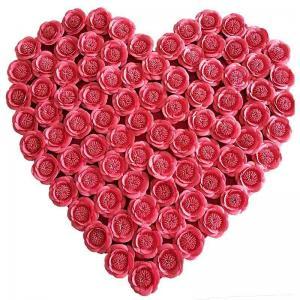 China Heart Handmade Flowers From Fabric , Romantic Fabric Wedding Flowers on sale