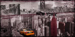 China B109 New York Decorative LED Canvas Painting Lighted Wall Art Applied in Home on sale