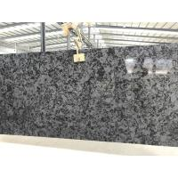3000 X 1400mm Black Quartz Slab , High Hardness Solid Quartz Island Slab