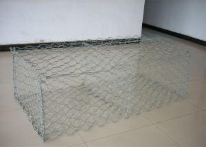 China Galvanized PVC Coated Gabion Wire Mesh Basket Double Twist Hexagonal on sale