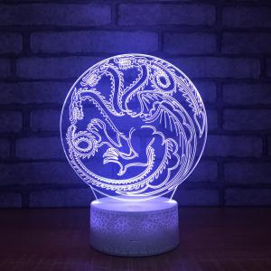 China 2018 Unique and innovative led table lamp, Acrylic 3D laser led lamp night light with special crackle base on sale