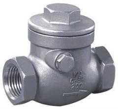 China stainless steel screw awing check valve;check valves;NPT;bspt;200WOG;screw end;CF8'CF8M on sale