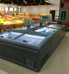 50Hz Supermarket Island Freezer , Frozen Meat Seafood Display Chest Freezer