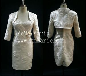 China Chinese wedding dress mother of the bride with capelet BYE-14070 on sale