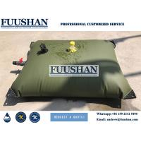 Fuushan Long Time Durability 1000Liter PVC Inflatable Water Storage Tanks / Bladders for Water Plant House